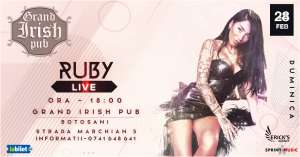 Concert Ruby la Grand Irish Pub Botoşani